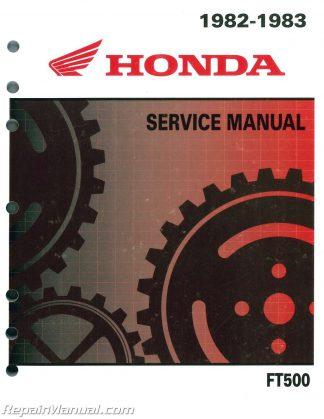 1982 - 1983 Honda FT500 ASCOT Motorcycle Service ManualRepair Manuals Online
