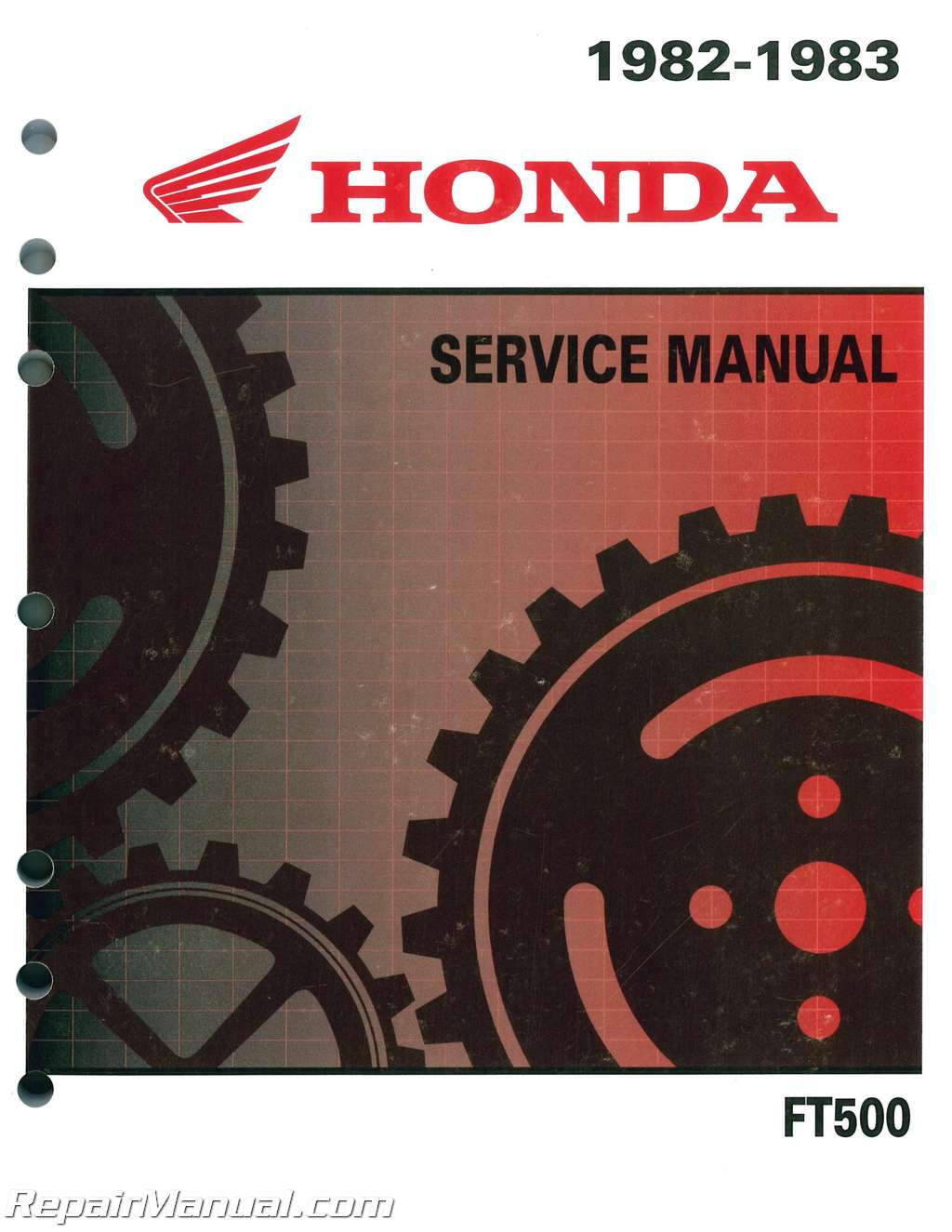 Honda Ascot Wiring Diagram 2002 1100 Schematic 1982 1983 Ft500 Motorcycle Service Manual Rh Repairmanual Com Accord Civic Schematics