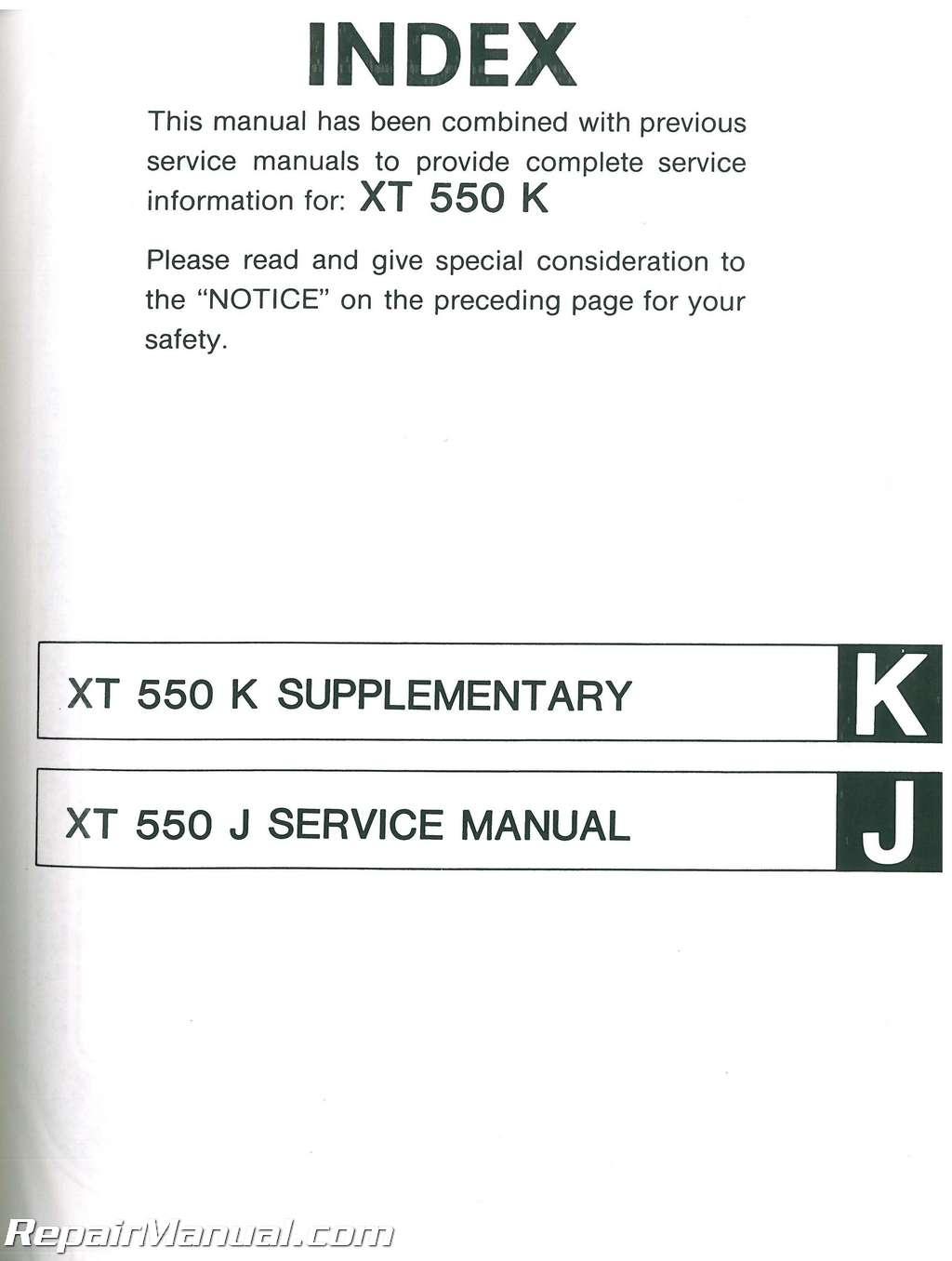 1982 1983 yamaha xt550 service manual rh repairmanual com yamaha xt 550 service manual download yamaha xt 550 service manual download