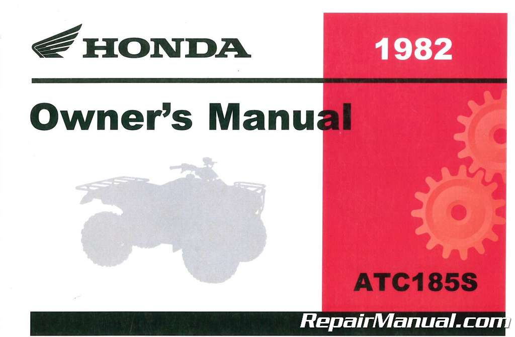 3195802 1982 Honda ATC185 ATV Owners Manual