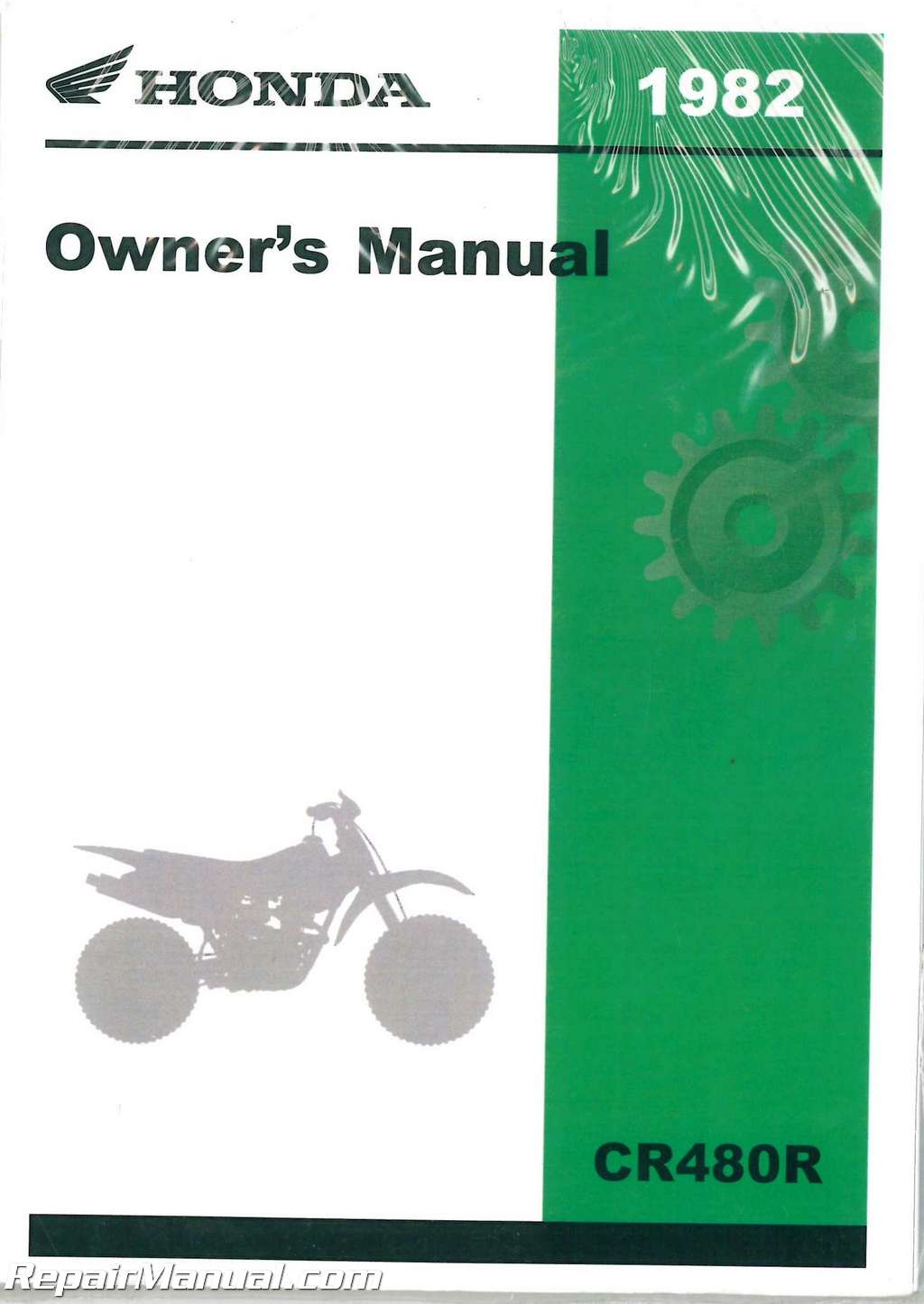 1982 Honda Cr480r Motorcycle Owners Manual   31ka510