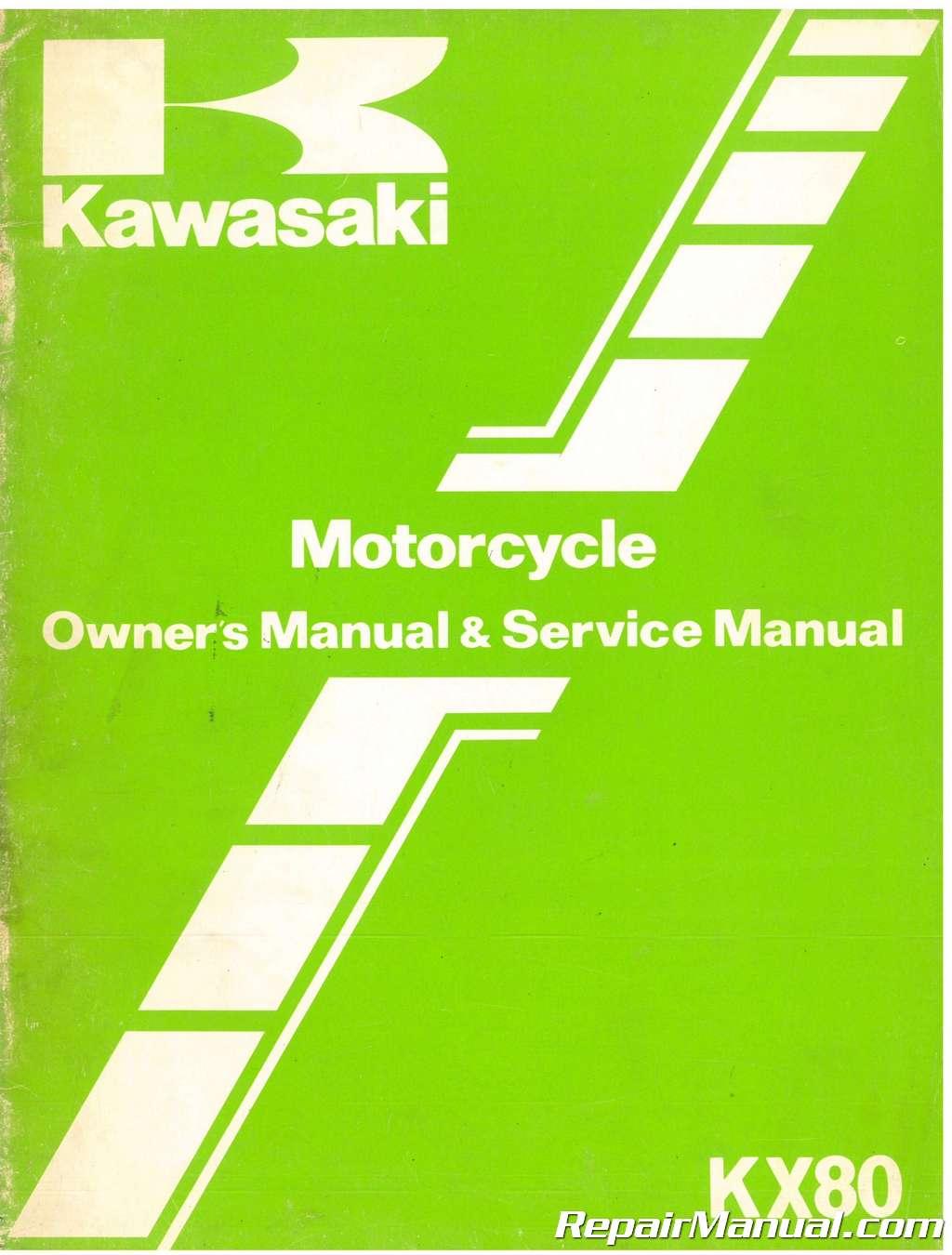 Used 1982 Kawasaki KX80 Motorcycle Owners Service Manual Kawasaki Kx Wiring Diagram on