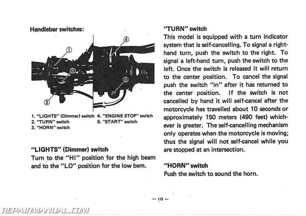 Wiring Diagram For 1982 Yamaha Maxim 650 : Yamaha xj j maxim motorcycle owners manual lit