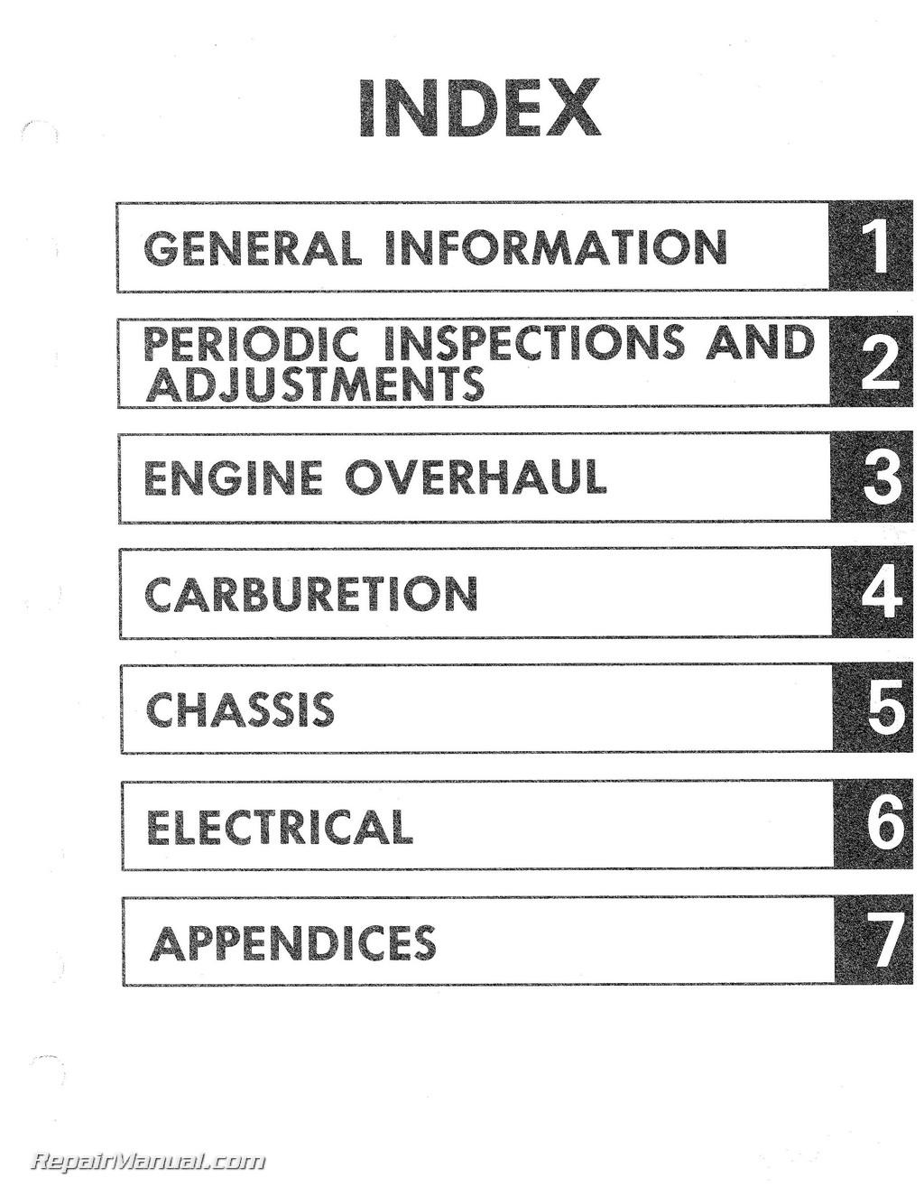 1982 yamaha xt125j xt200j motorcycle service manual rh repairmanual com Vv5fs2 01T1 101 02T Nvfs2120 3DZ 02T