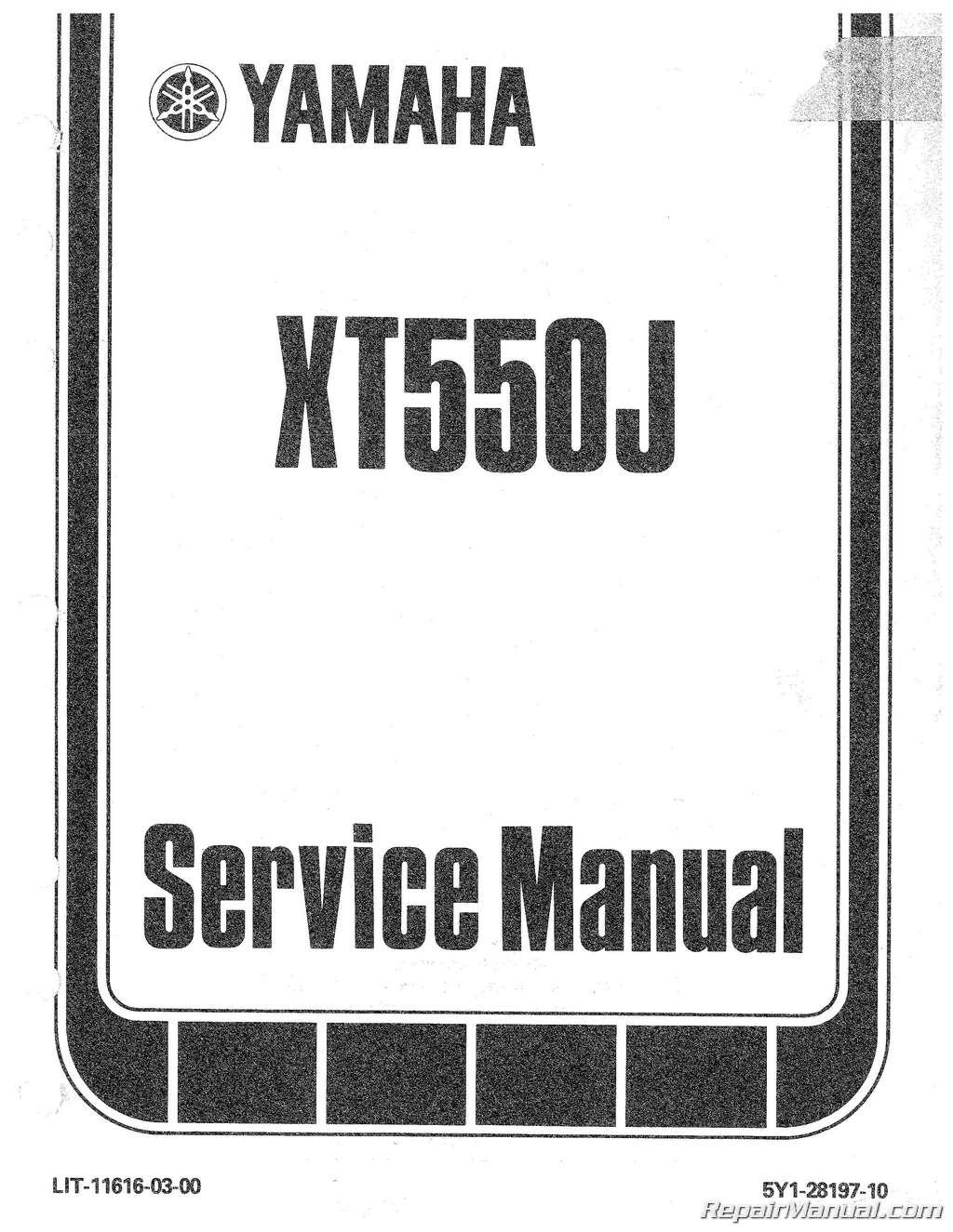 1982 yamaha xt550 motorcycle service repair maintenance