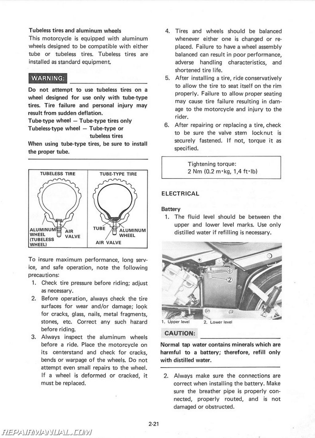 1982 yamaha xz550rj vision motorcycle owners service manual