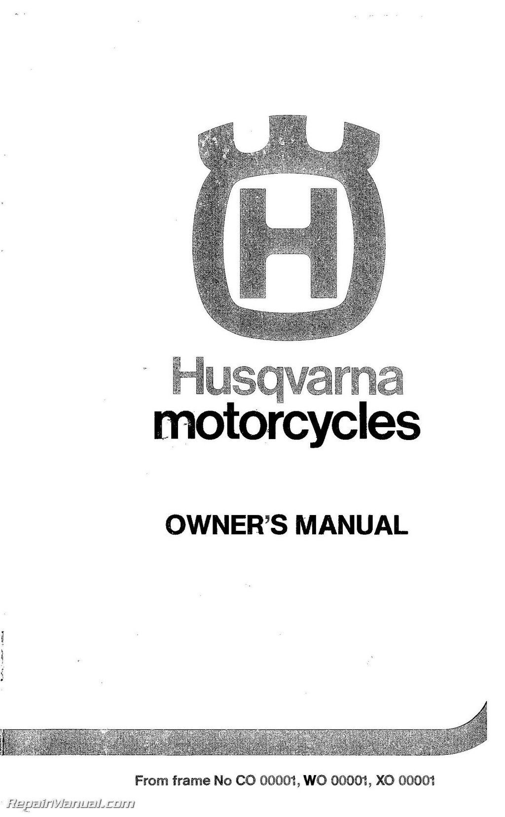 1983 1984 1985 husqvarna motorcycles owners workshop manual rh repairmanual com husqvarna rider 216 service manual husqvarna rider service manual