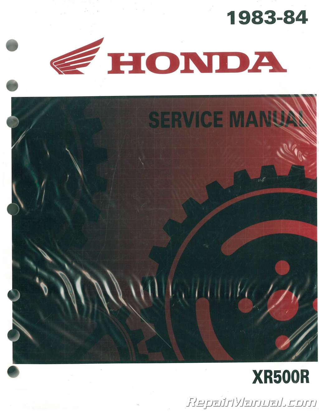 1983 1984 honda xr500r motorcycle service manual rh repairmanual com 1982 honda xr500 wiring diagram