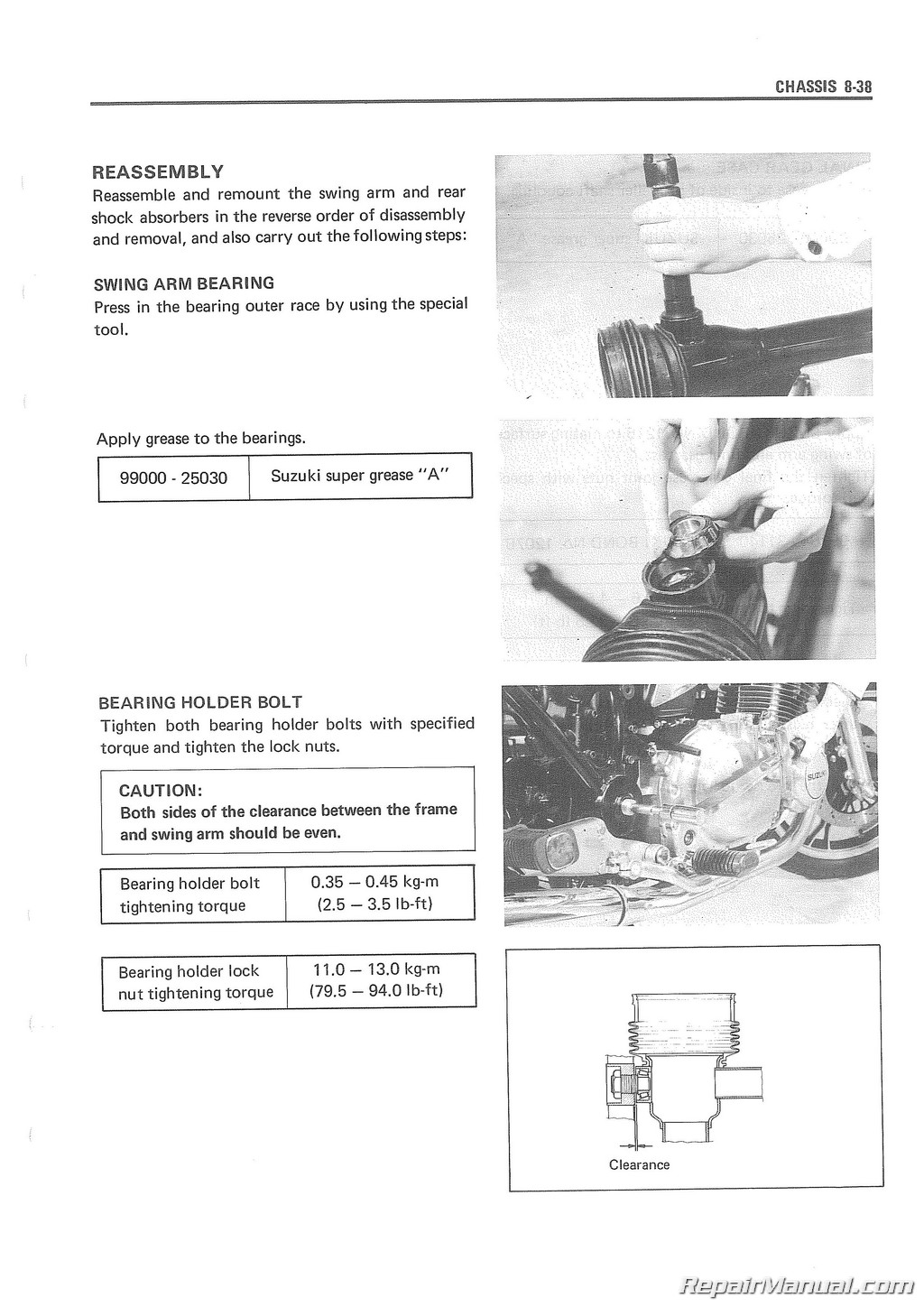 1983 1984 Suzuki Gs1100g Motorcycle Service Manual