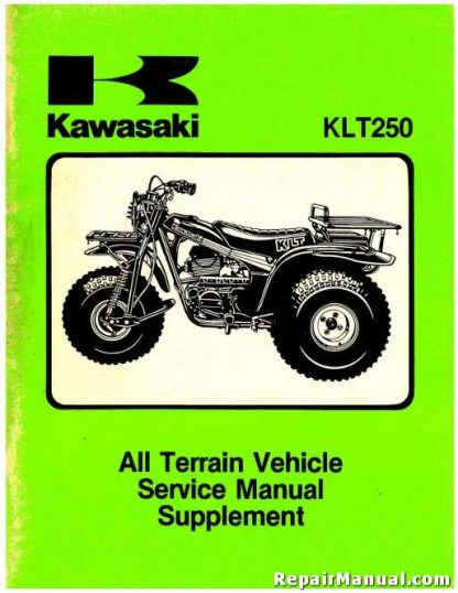 1983-1984 Kawasaki KLT250 ATV Factory Supplement Manual