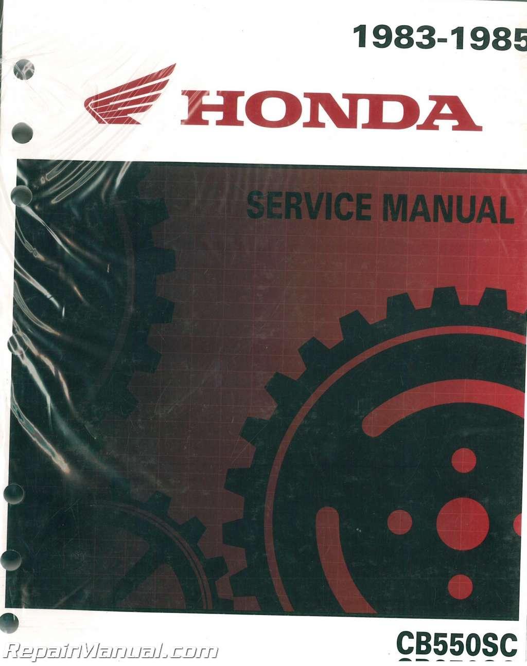 1983 1985 Honda Cb550 650sc Nighthawk Motorcycle Service