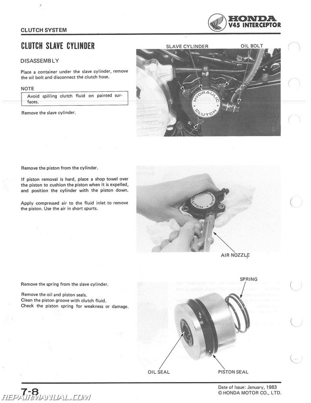 service manual honda vf 750