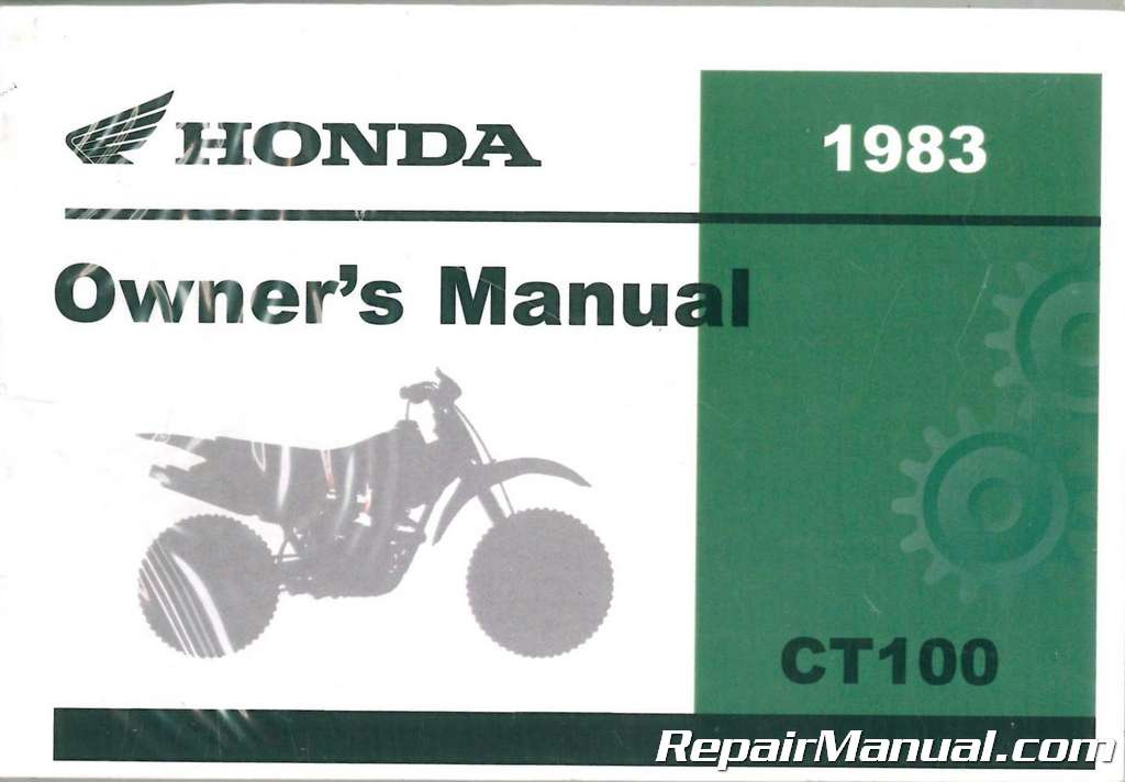1983 honda ct110 motorcycle owners manual rh repairmanual com 1981 1986 Honda CT110 Parts Honda CT110 Craigslist