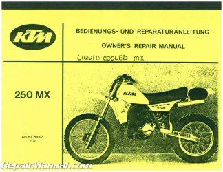 ktm 250mx 250 mx 1983 1991 service repair workshop manual