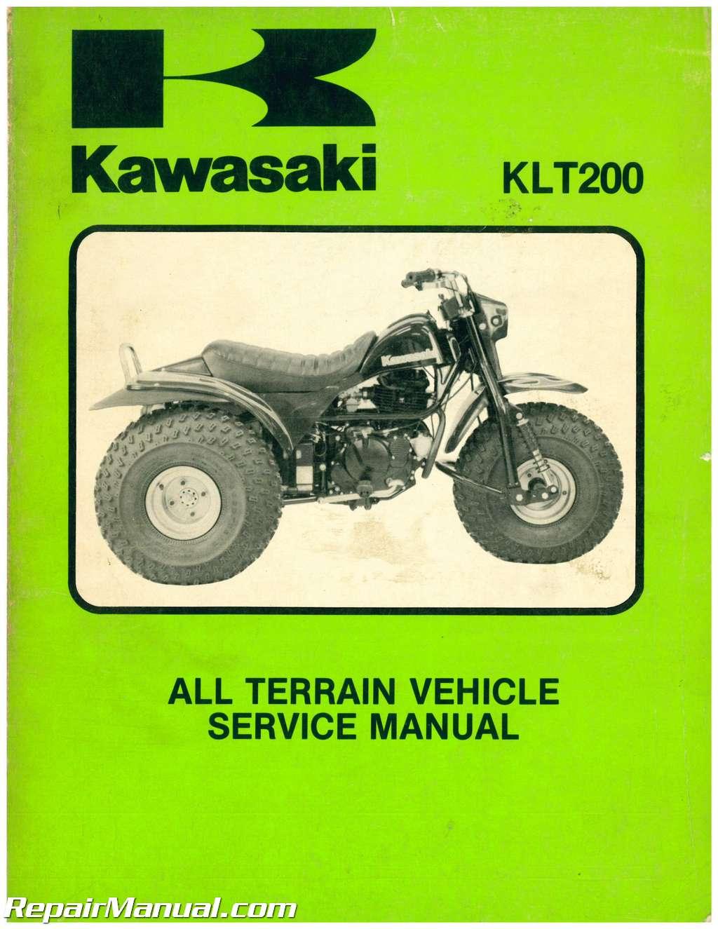 kawasaki klt atc  wheeler service manual