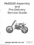 1983 Suzuki RM250D Assembly Manual