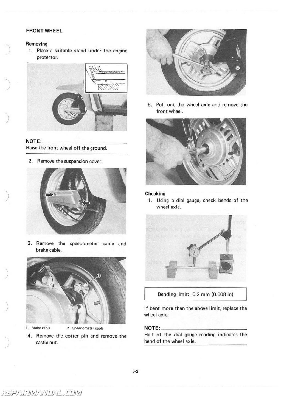 Yamaha Riva  Service Manual