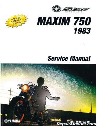 1981-1983 Yamaha XJ750R Seca Motorcycle Service Manual