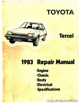 1983 Toyota Corolla Tercel Auto Repair Service Manual