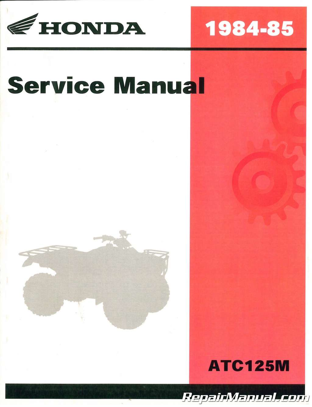 1984 1985 honda atc125m atc atv three wheeler service manual rh repairmanual com