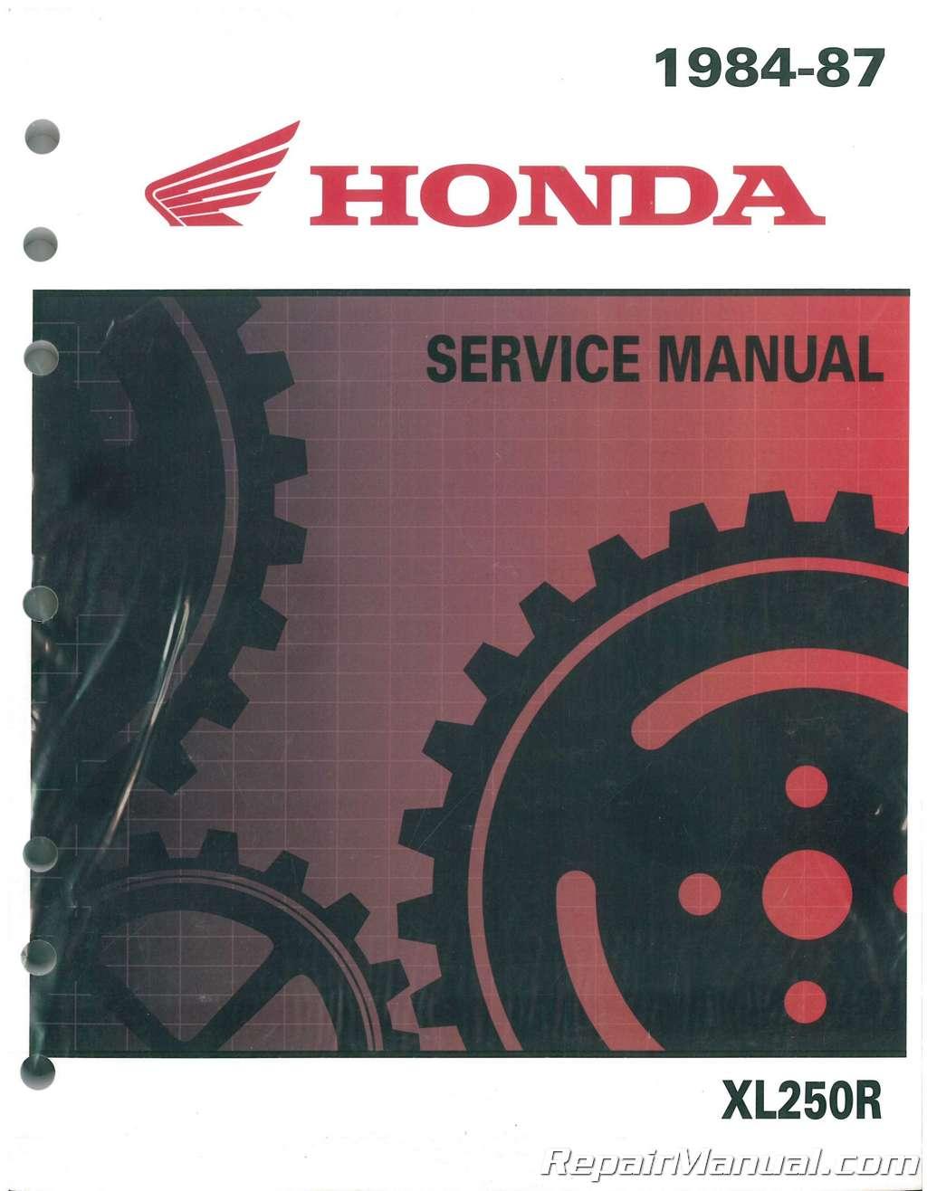 1984 1987 honda xl250r motorcycle service manual rh repairmanual com 1987 honda xl250 service manual pdf 1972 Honda XL250