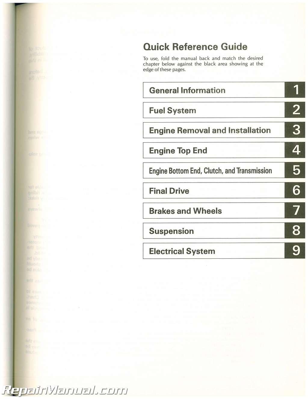 19841988 Kawasaki KDX80 Motorcycle Owners Service Manual