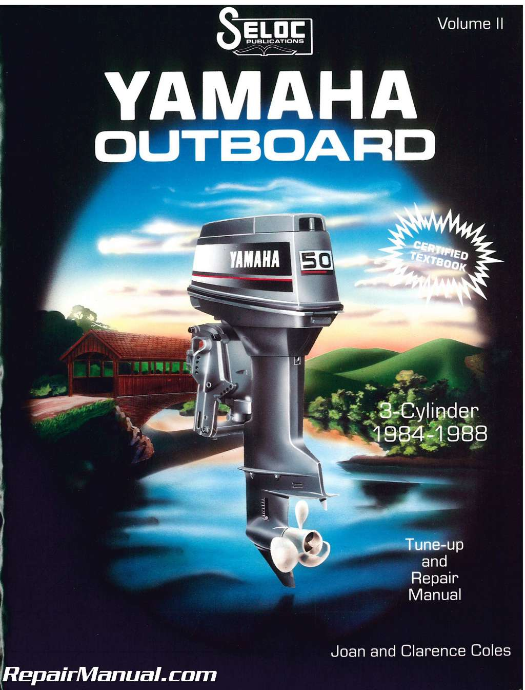 1984-1988 Yamaha 3 Cylinder Outboard Engine Repair Manual by Seloc