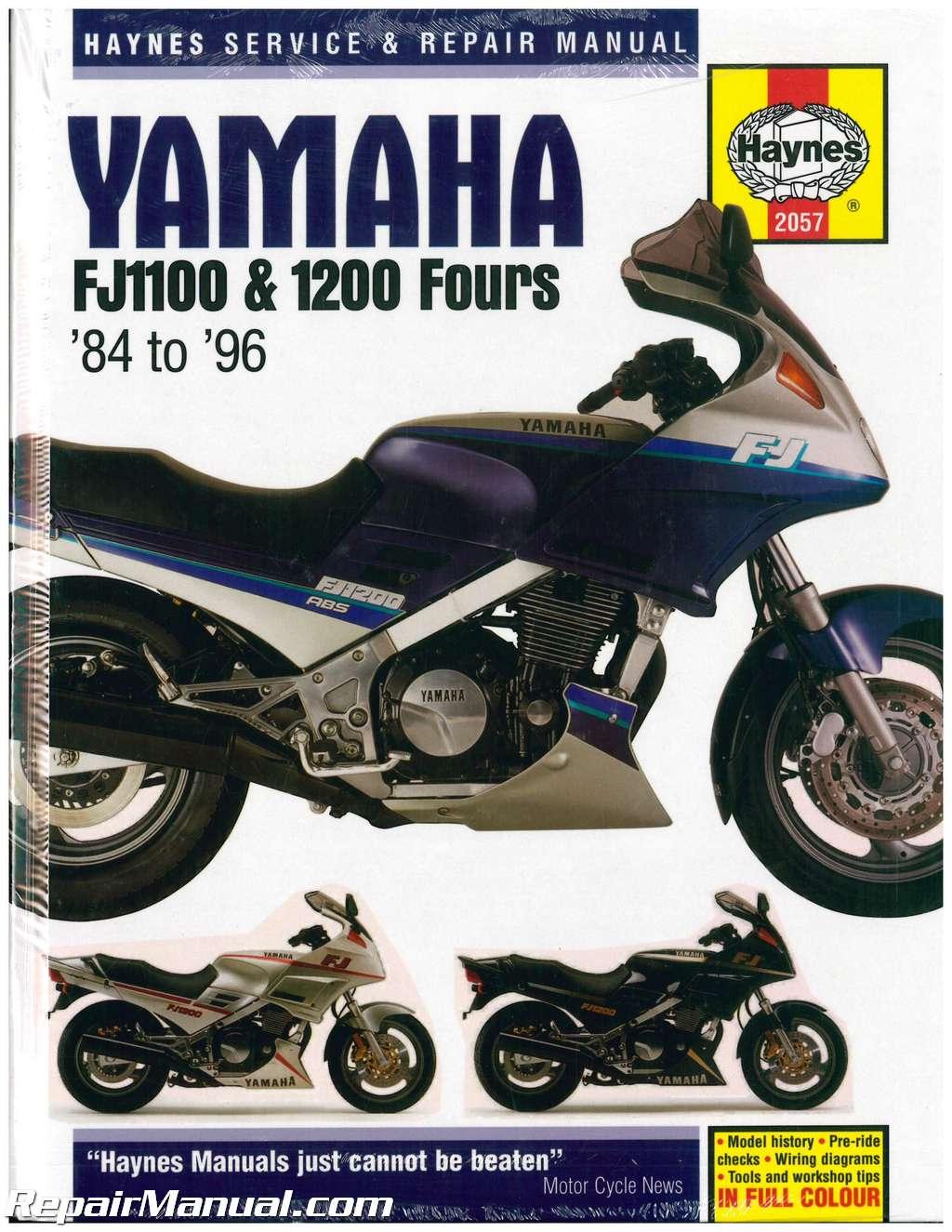 1984-1996-Yamaha-FJ1100-FJ1200-FJ1200A-Motorcycle-Repair- ...