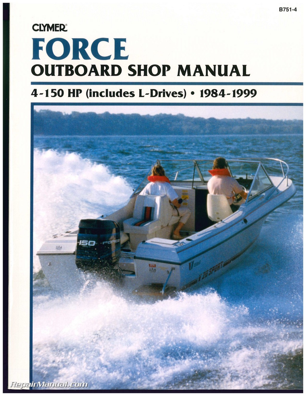 1984 1999 Force 4 150 Hp Outboard Boat Engine Repair Manual 75 Diagram Wiring Schematic