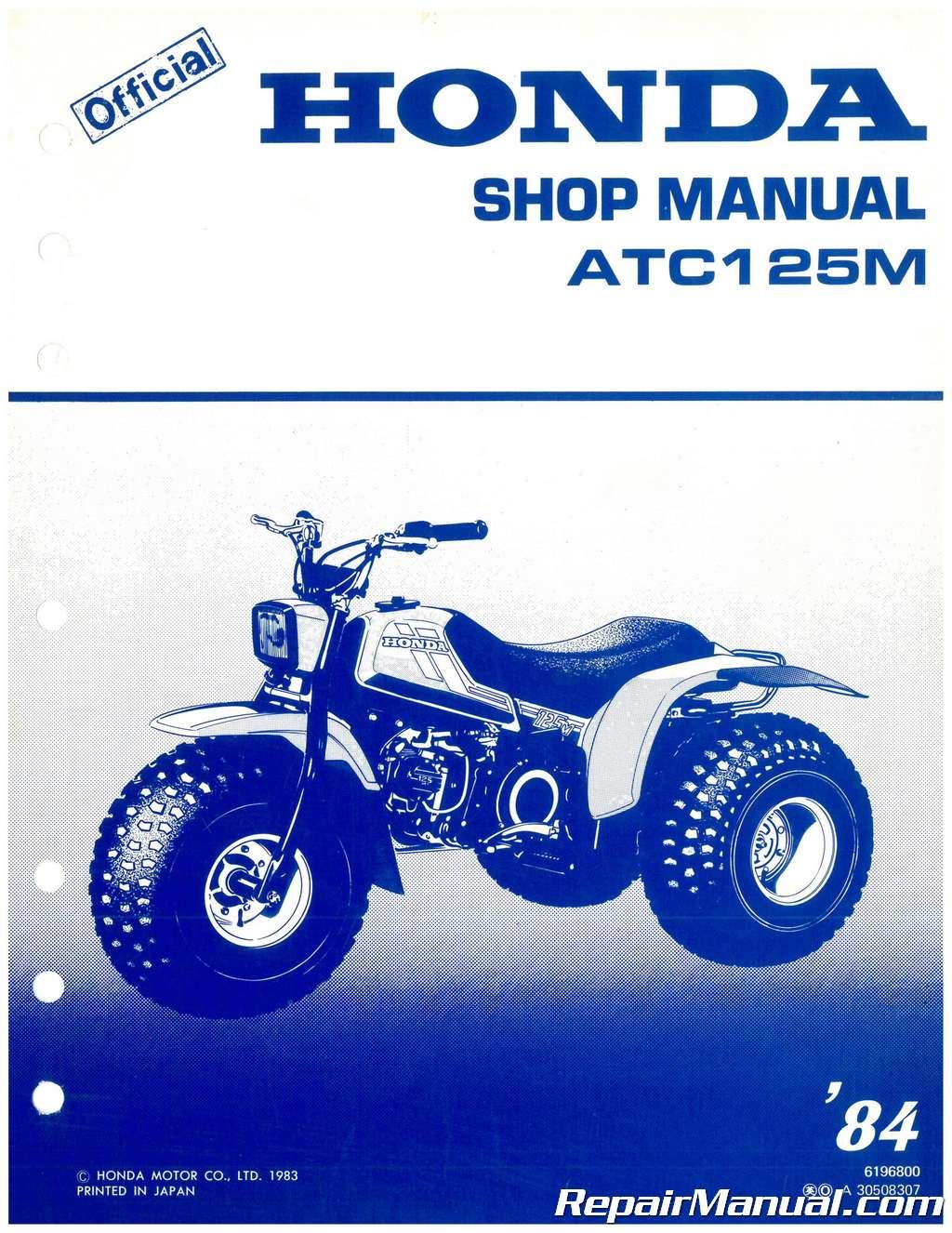 honda atv repair manuals free