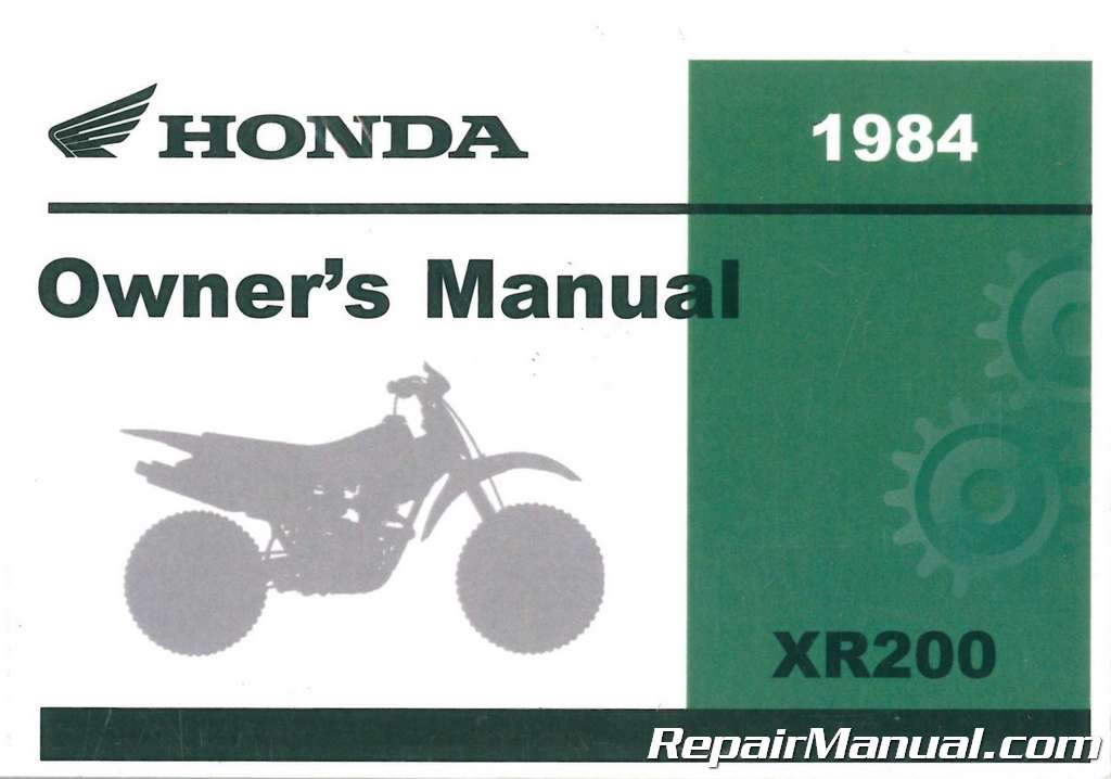 31MF5611 1984 Honda VT500C Motorcycle Owners Manual Motors ...