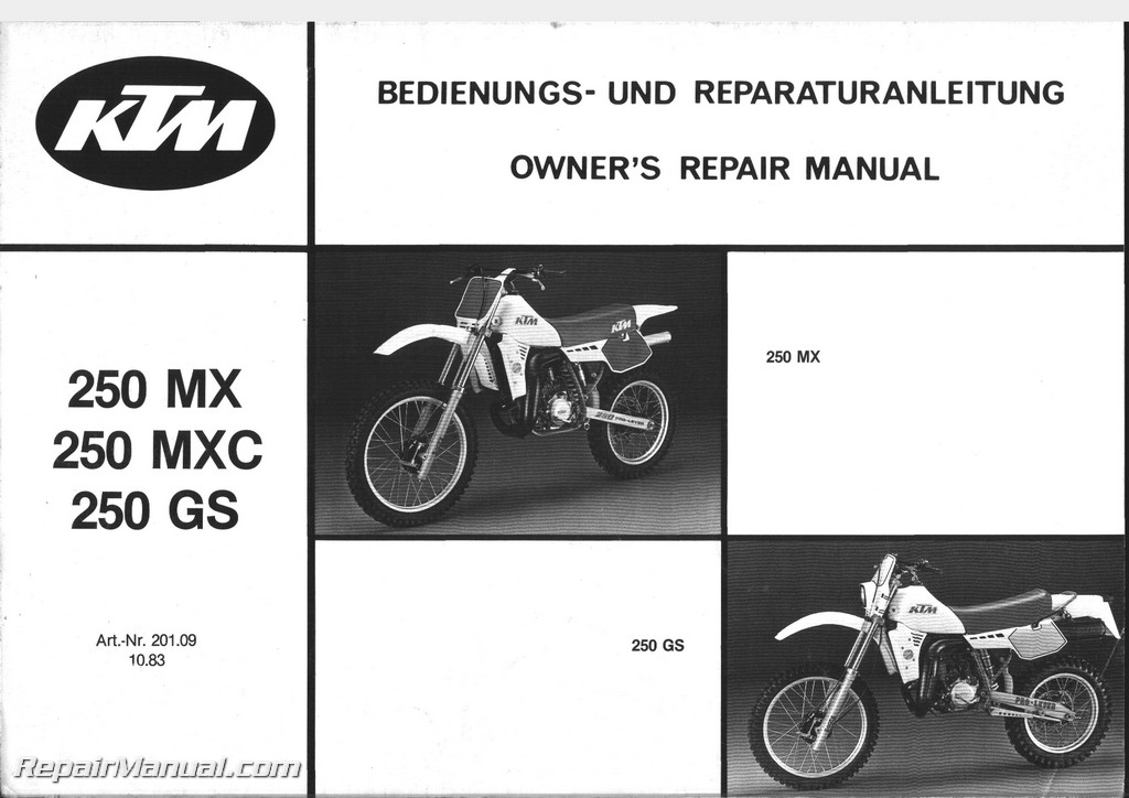 1984 ktm 250mx mxc gs motorcycle owners repair manual rh repairmanual com Honda Motorcycle Repair Diagrams Kawasaki Motorcycle Repair Manuals