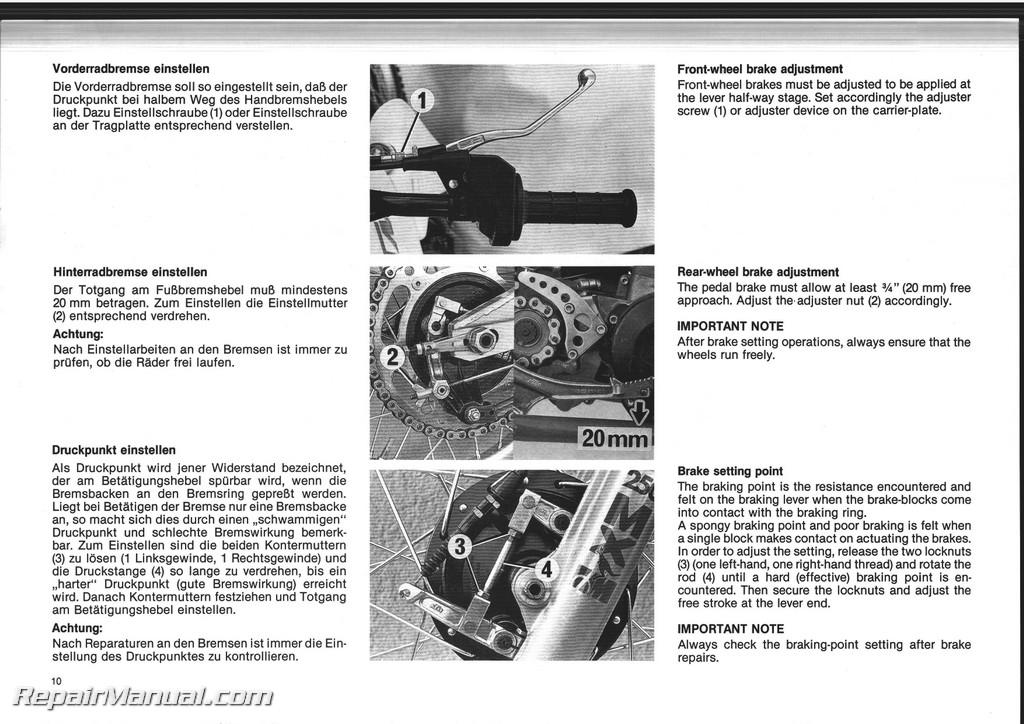 Ktm Se Owners Manual
