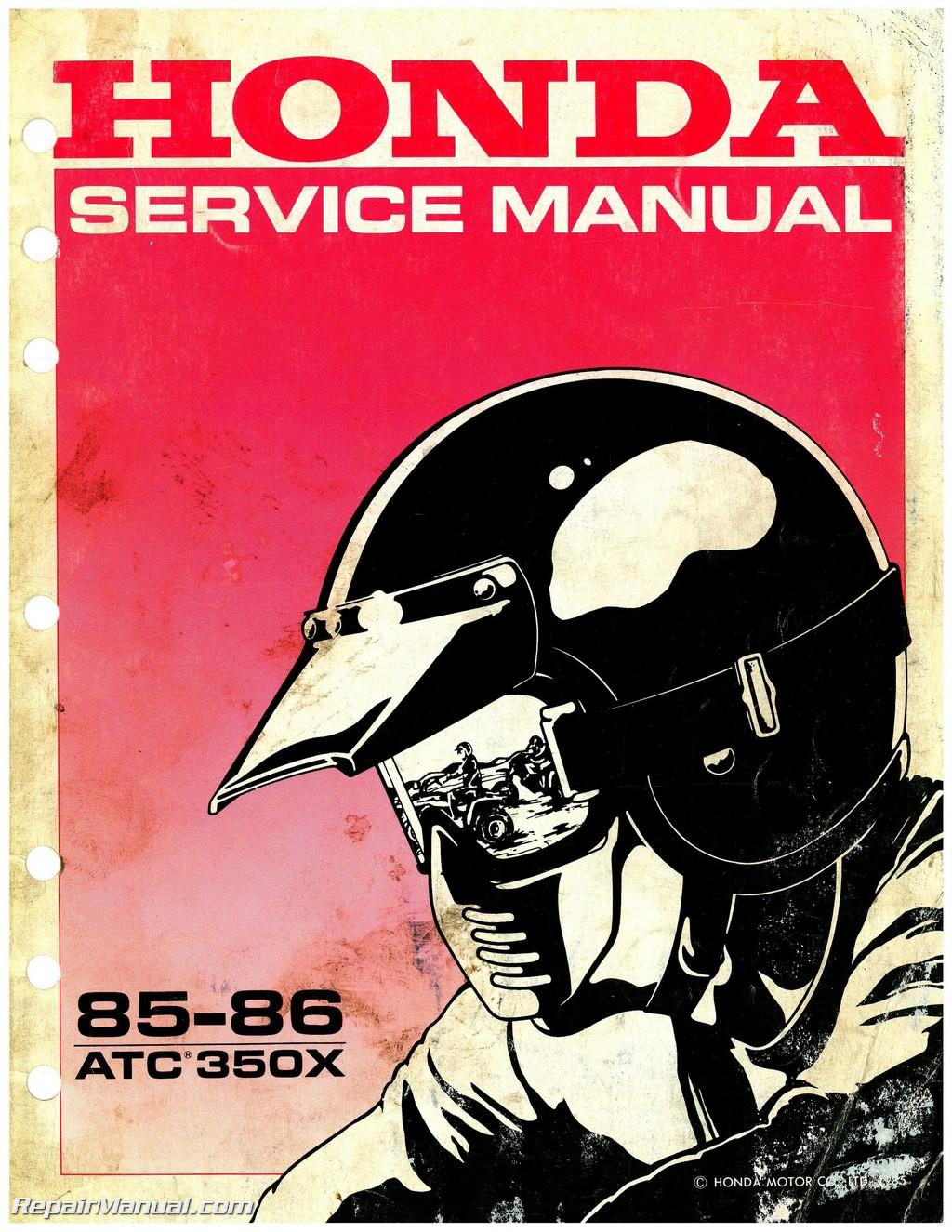 1985 1986 Honda Atc350x Service Manual
