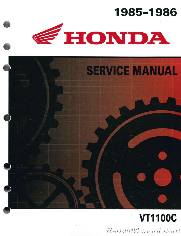 1985 1986 honda vt1100c shadow motorcycle service manual