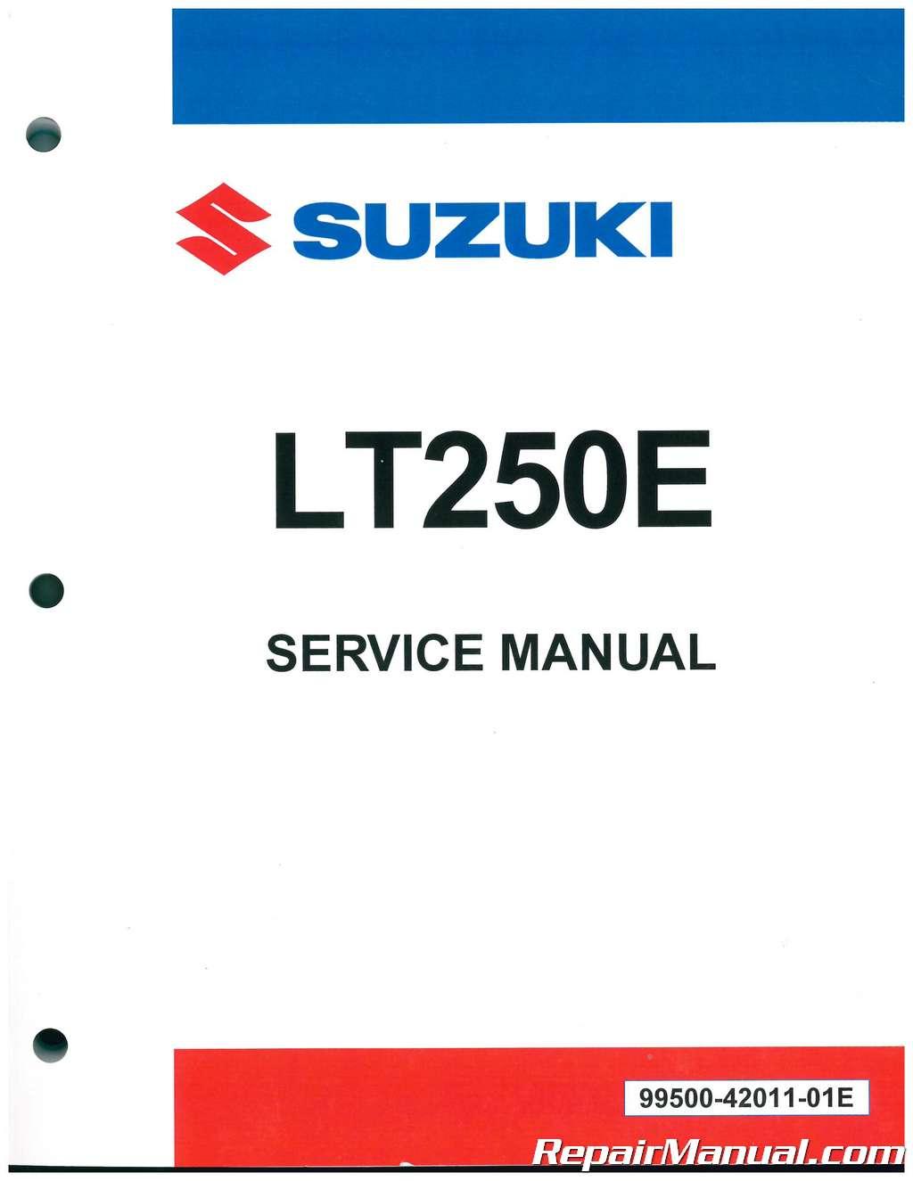 1985 1986 Suzuki Lt250ef Lt250eff Service Manual