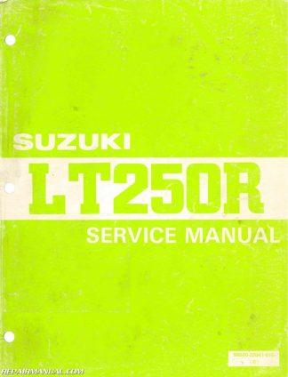 You're viewing: 1985-1986 Suzuki LT250R ATV Service Manual $28.74 $24.95