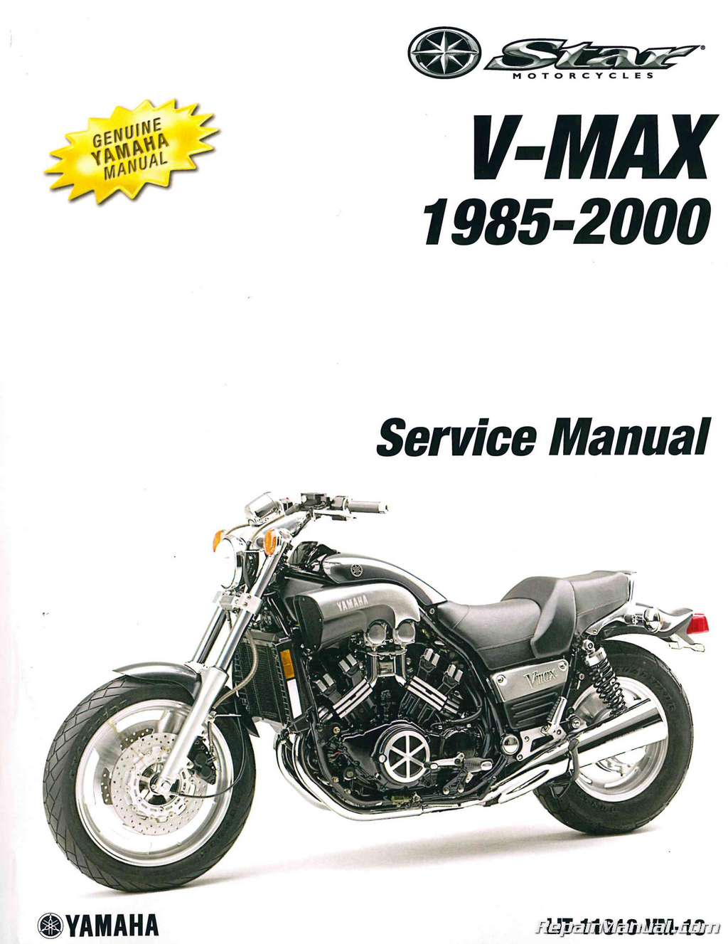 1985 2000 yamaha vmx1200 vmax motorcycle service manual rh repairmanual com Yamaha Scooter Service Manuals Yamaha Motorcycle Starting Problems