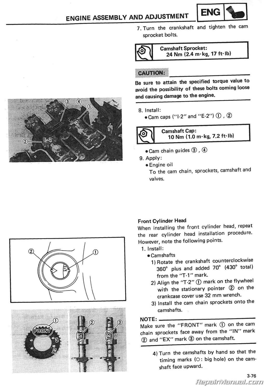 1985 2000 Yamaha Vmx1200 Vmax Motorcycle Service Manual Engine Diagram