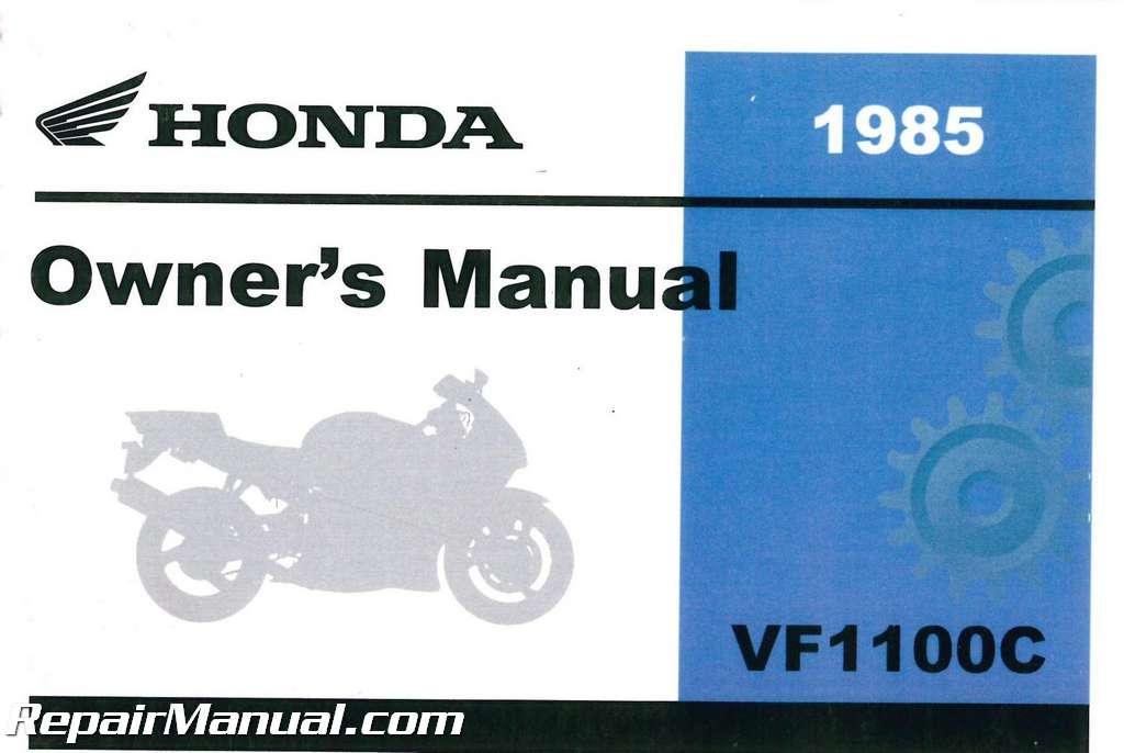 1985 Honda Vf1100c V65 Magna Motorcycle Owners Manual