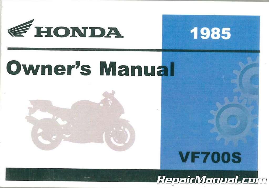 1985 honda vf700s sabre motorcycle owners manual