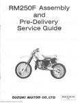 1985 Suzuki RM250F Assembly Manual
