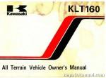 1985 Kawasaki KLT160-A1 ATV Owners Manual