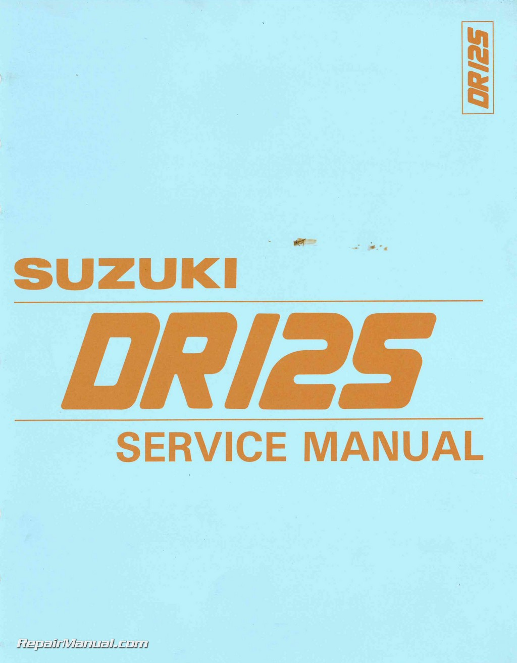 1986 1987 1988 suzuki dr125 sp125 motorcycle service manual rh repairmanual com suzuki dr 125 service manual free download Wheelie Suzuki DR125