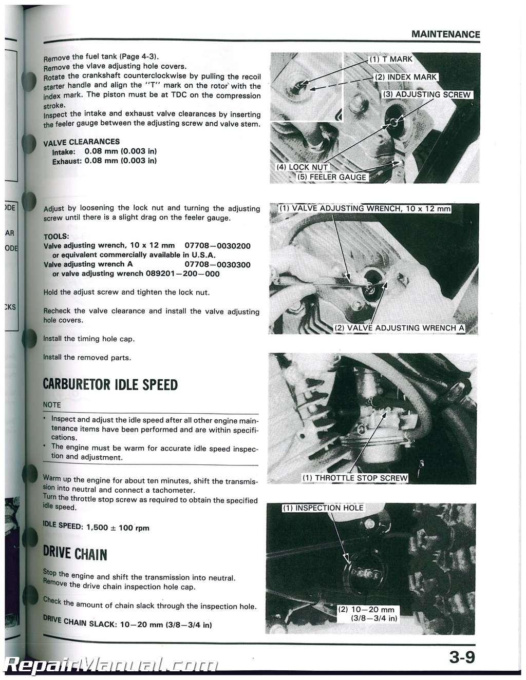 1986 1987 Honda ATC125M Three Wheeler Service Manual