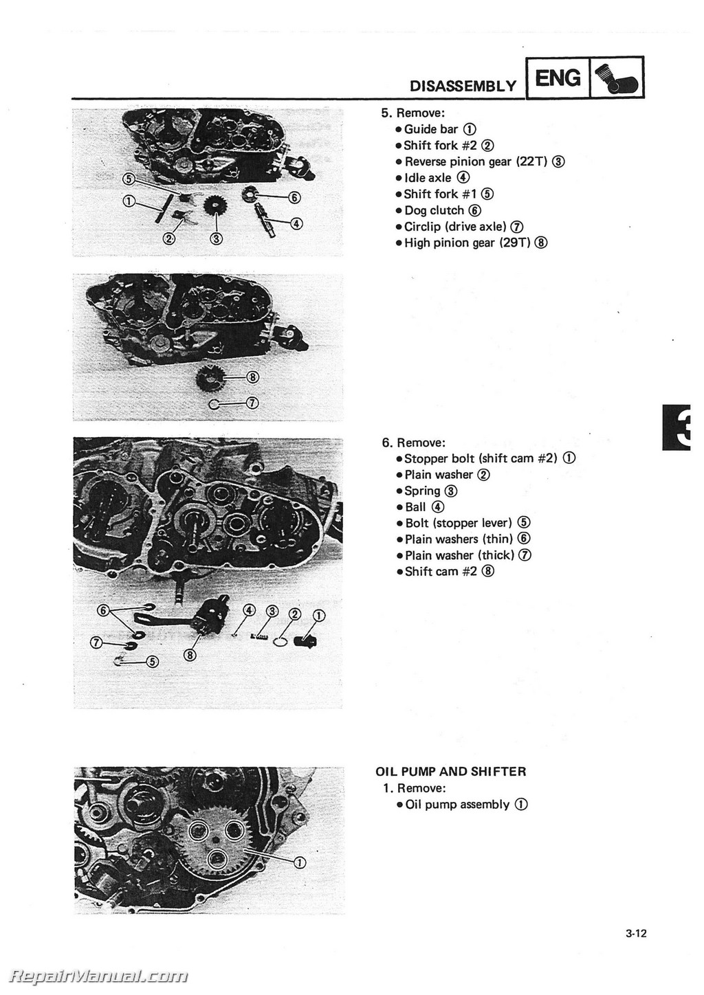 Wiring Diagram For 1986 Yamaha 225 Moto 4 41 Images 1984 Ytm 1988 Yfm225 Service Manual Page 3 1985