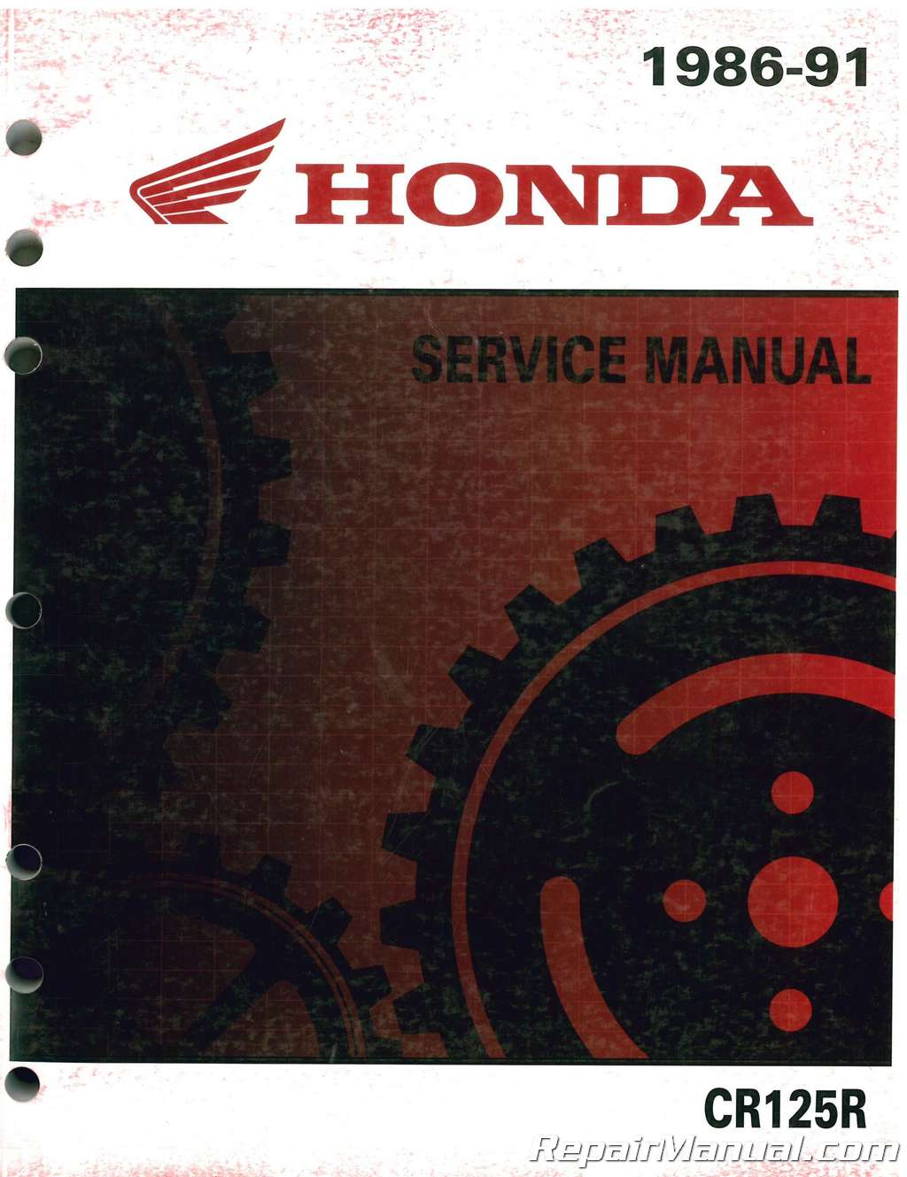 1986 1991 Honda Cr125r Motorcycle Service Manual