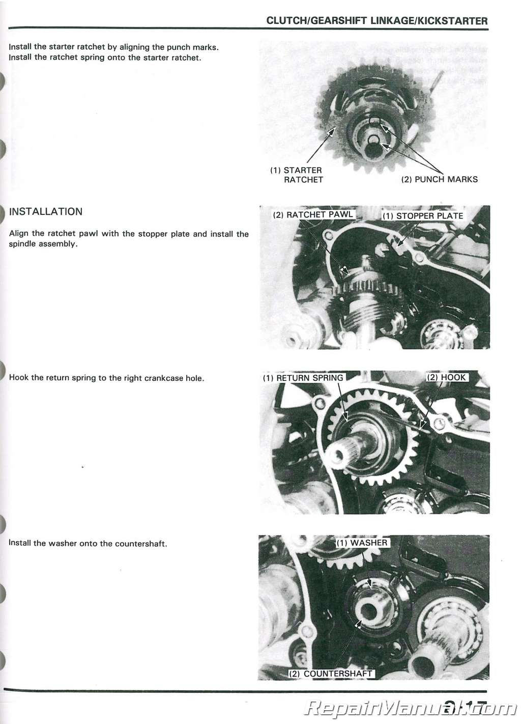 1986 1991 honda cr125r motorcycle service manual rh repairmanual com 1989 honda cr125 owners manual 1987 Honda CR125