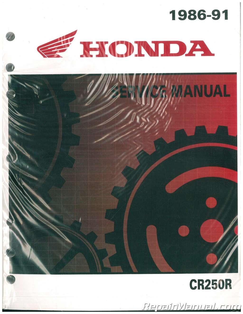 1986 1991 honda cr250r motorcycle service manual rh repairmanual com