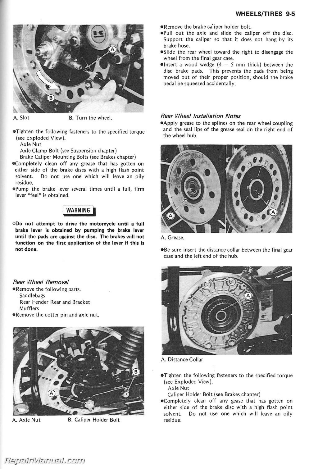 1986 Kawasaki Zg1200b Voyager Xii Service Manual Wiring Diagram